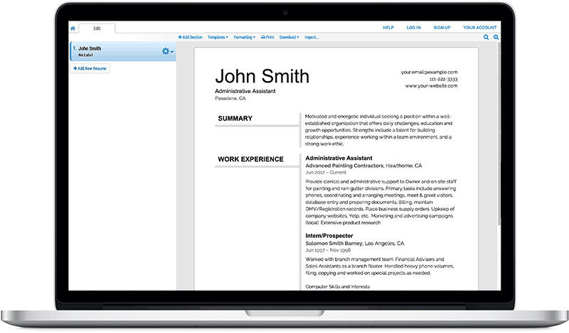 Free Resume Builder Super Resume